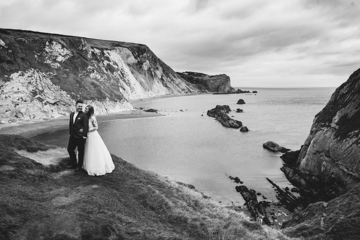 Durdle door plener ślubny, wedding
